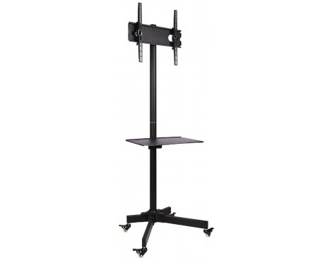 """Ultimate Mounts Single Pole TV Cart Trolley Stand For Up To 55\"""" 1.5m"""