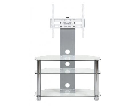 MMT CC33 Clear Glass Swivel Cantilever TV Stand for up to 50""