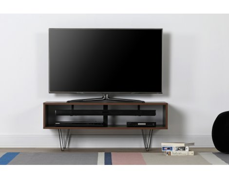"""Off The Wall Chevron 1100 Walnut TV Stand For TVs up to 50\"""""""