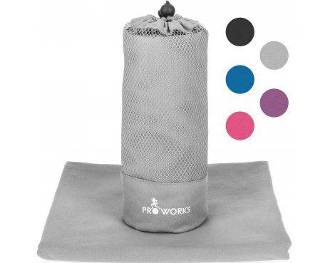 ProWorks Extra Large Grey Microfibre Towel