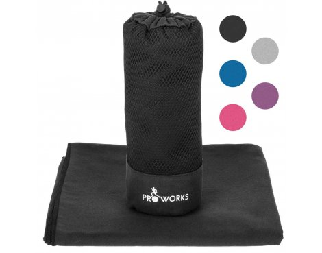 ProWorks Extra Extra Large Black Microfibre Towel