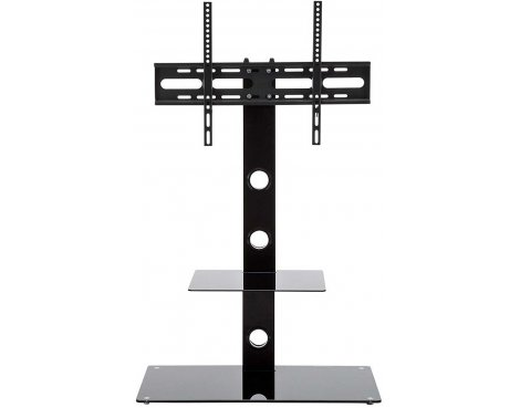 "MMT Black Cantilever TV Stand for up to 55"" TVs"