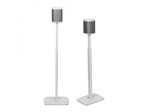 Flexson Adjustable Floor Stand for For Sonos Play:1 - White (Pair)