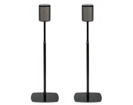 Flexson Adjustable Floor Stand For Sonos Play:1 - Black (Pair)