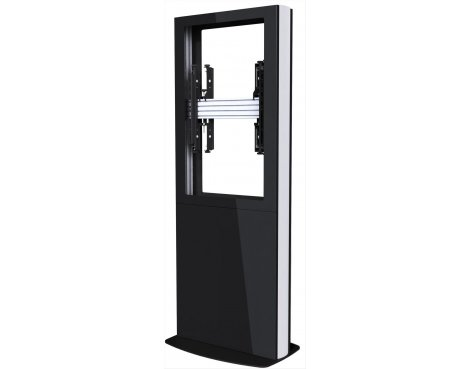 "Back-to-Back Portrait Digital Signage Kiosk for 42"" Screens - Black"