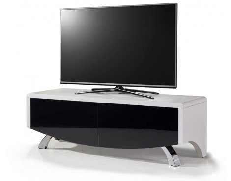 """Wave 1200 Hybrid TV Stand For Up To 60\"""" - White/Black"""