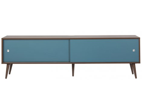 "Off The Wall Retro TV Stand for up to 85"" - Walnut"