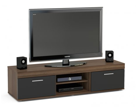 "TNW Carnaby TV Stand Unit for TVs up to 65"" - Walnut/Black"