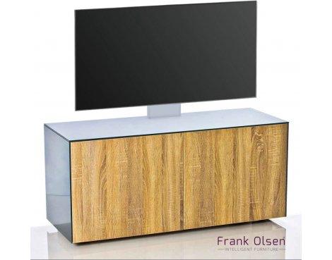"""Frank Olsen INTEL1100 Grey & Oak Cantilever TV Cabinet For TVs Up To 55\"""""""