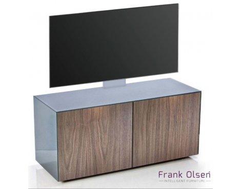 "Frank Olsen INTEL1100 Grey & Walnut Cantilever TV Cabinet For TVs Up To 55\"""