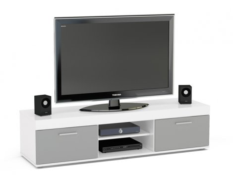 """TNW Carnaby TV Stand Unit for TVs up to 65\"""" - White/Grey"""