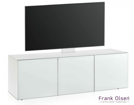 "Frank Olsen INTEL1500 White Cantilever TV Cabinet For TVs Up To 60\"""
