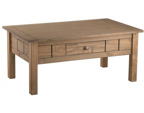 TNW Monterrey Waxed Pine 1 Drawer Coffee Table