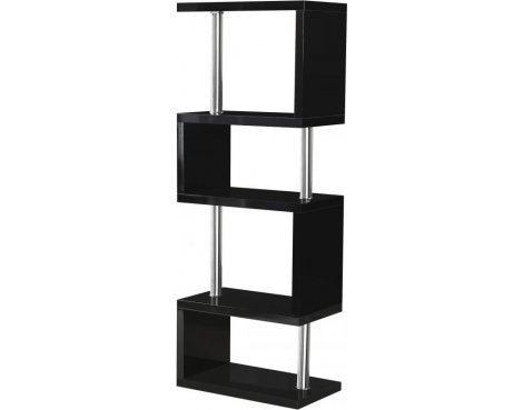 Valufurniture Charisma 5 Shelf Unit in Black Gloss/Chrome