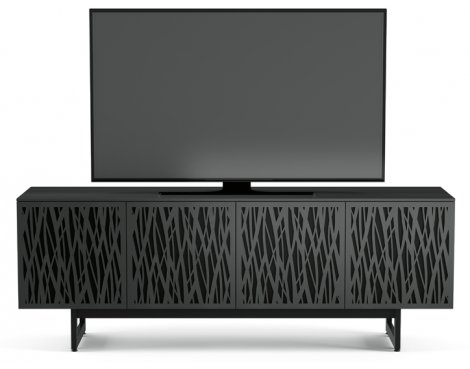 """BDI Elements 8779 Wheat TV Stand For Up To 80\"""" TV\'s - Charcoal"""