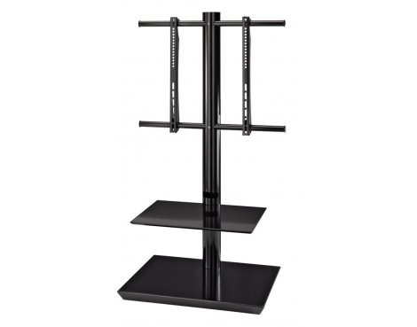"Hama 2 Shelf TV Stand For Up To 55"" - Black"