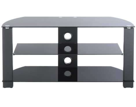 """TNW Vision 1050 Black Glass TV Stand For Up To 50\"""""""