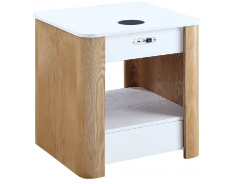 Jual JF404 San Francisco Bedside/Lamp Table with speaker - Ash