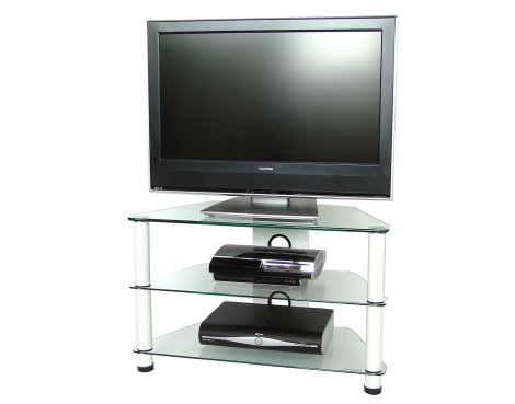 3 Shelf TV stand with white legs