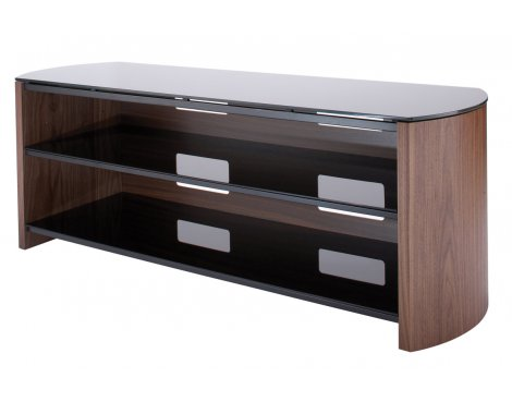 Walnut Real Wood Veneer TV Stand for screens up to 60""