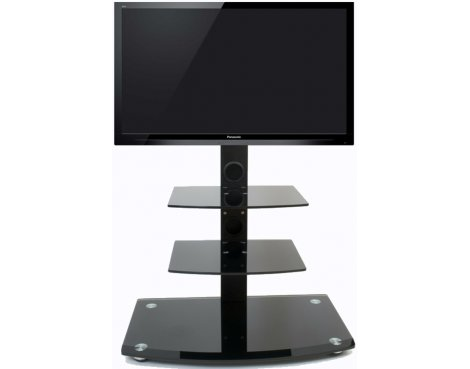 Gloss Black Cantilever TV Stand for screens up to 40""