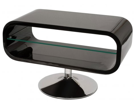"""Opod Piano Black and Clear Glass Stand for TVs up to 32\"""""""