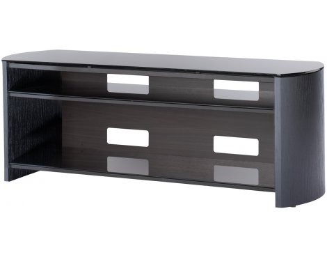 """Black Real Wood Veneer TV Stand for screens up to 60\"""""""