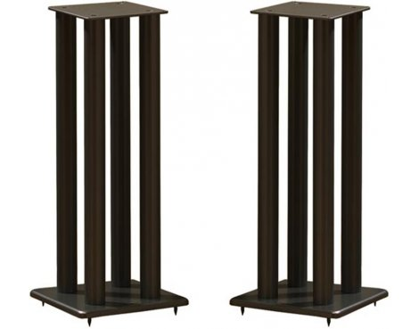 Atacama Pair of Speaker Stands in Black - Height 700mm