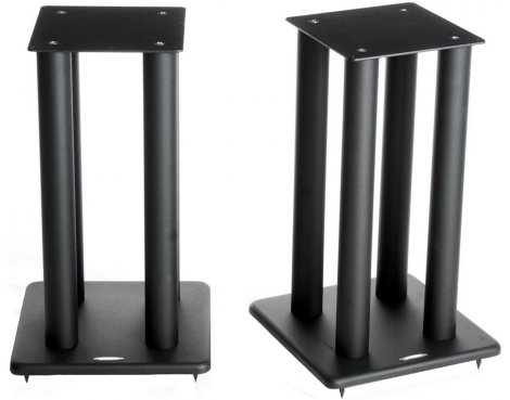 Atacama Speaker Stands in Black - Height 600mm