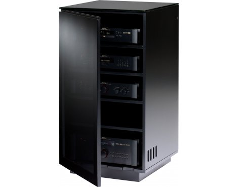 BDI MIRAGE 8222 Black Luxury Hi-Fi Cabinet