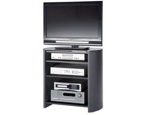 Black Oak Veneer TV Stand for screens up to 37""