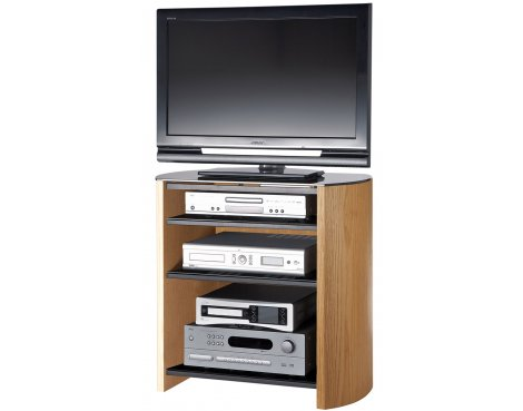 B GRADE/Box slightly damaged Light Oak Veneer TV Stand for screens up to 37""
