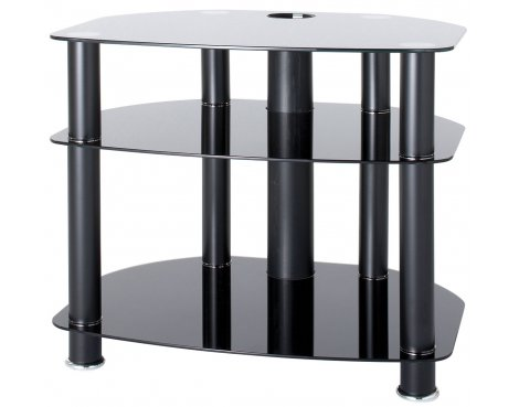 """Alphason Black Glass TV Stand for up to 26\"""" TVs"""