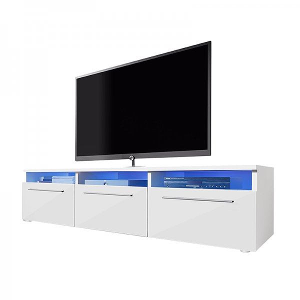 "Selsey Lavello 1500  TV Stand for TVs up to 48"" - White Matt & White Gloss"