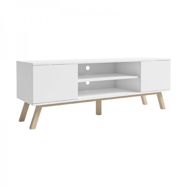 "Selsey Vero Wood 1500 TV Stand for TVs up to 70"" - White Matt & White Gloss"