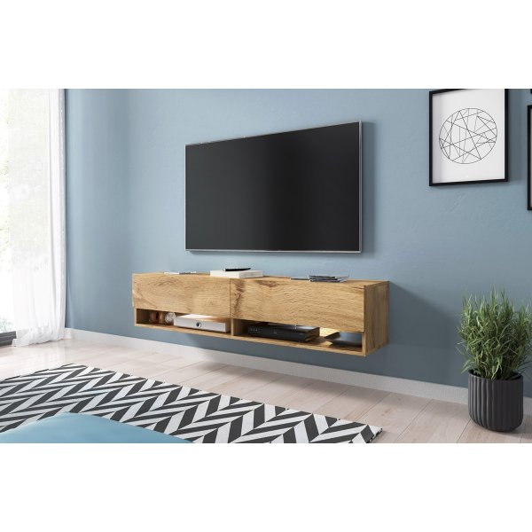 "Selsey Wander 1400 TV Stand for TVs up to 64"" - Oak"