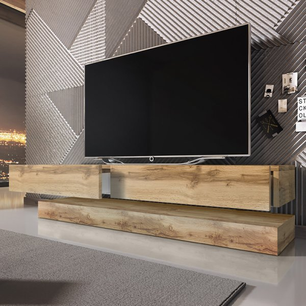 "Selsey Aviator 1400 TV Stand for TVs up to 48"" - Sonoma Oak"