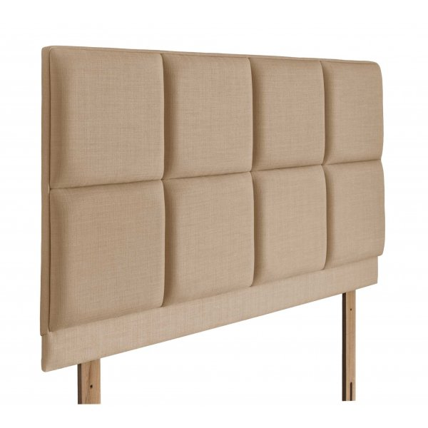 Swanglen Turin Gem Fabric Headboard with Wooden Struts - Oatmeal - King 5ft