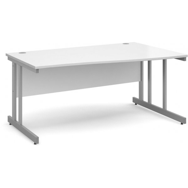 DSK Momento 1600mm Right Hand Wave Desk - White