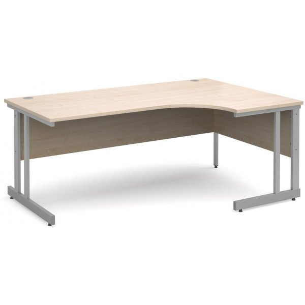 DSK Momento 1800mm Right Hand Ergonomic Desk - Maple