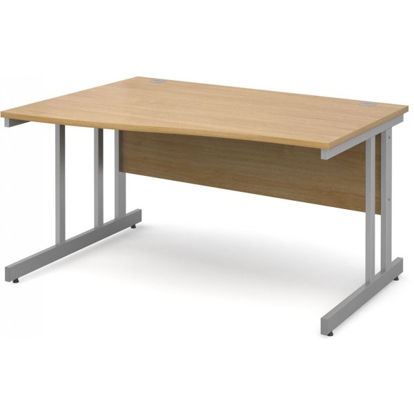 DSK Momento 1400mm Left Hand Wave Desk - Light Oak