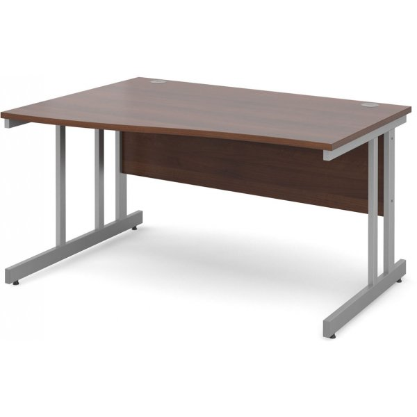 DSK Momento 1400mm Left Hand Wave Desk - Walnut