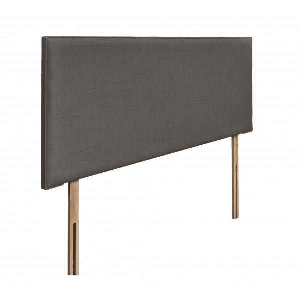 Swanglen Luxor Gem Fabric Headboard with Wooden Struts - Slate - King 5ft