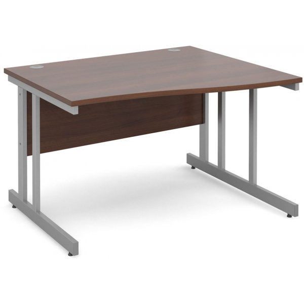DSK Momento 1200mm Right Hand Wave Desk - Walnut