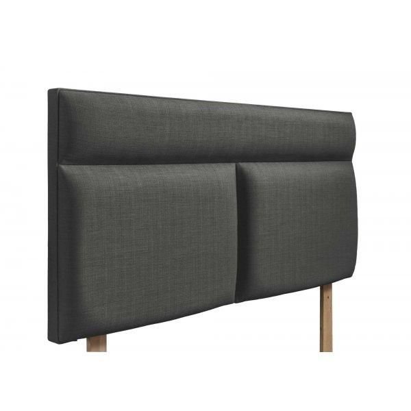 Swanglen Bella Gem Fabric Headboard with Wooden Struts - Granite - Double 4ft6