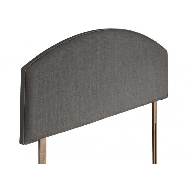 Swanglen Cleopatra Gem Fabric Headboard with Wooden Struts - Slate - Single 3ft