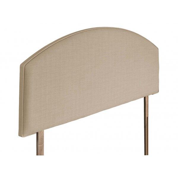Swanglen Cleopatra Gem Fabric Headboard with Wooden Struts - Beige - King 5ft