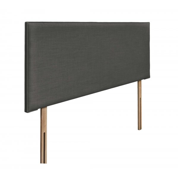 Swanglen Luxor Gem Fabric Headboard with Wooden Struts - Granite - King 5ft