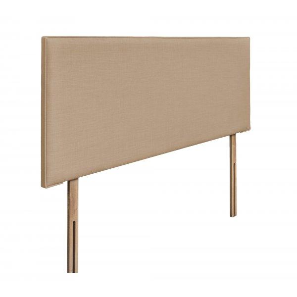 Swanglen Luxor Gem Fabric Headboard with Wooden Struts - Oatmeal - Double 4ft6