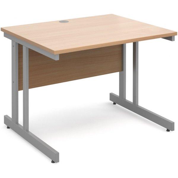 DSK Momento 1000mm Straight Desk - Beech